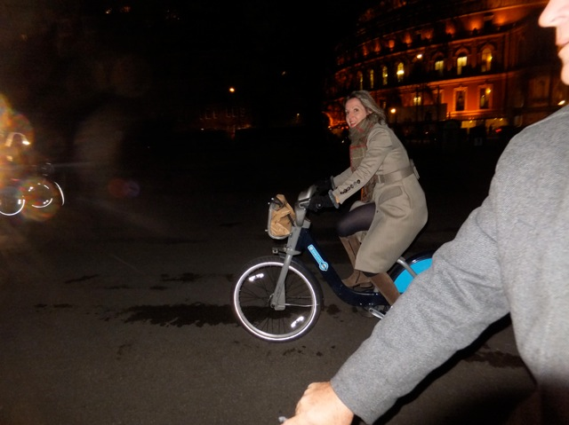 night cycling London